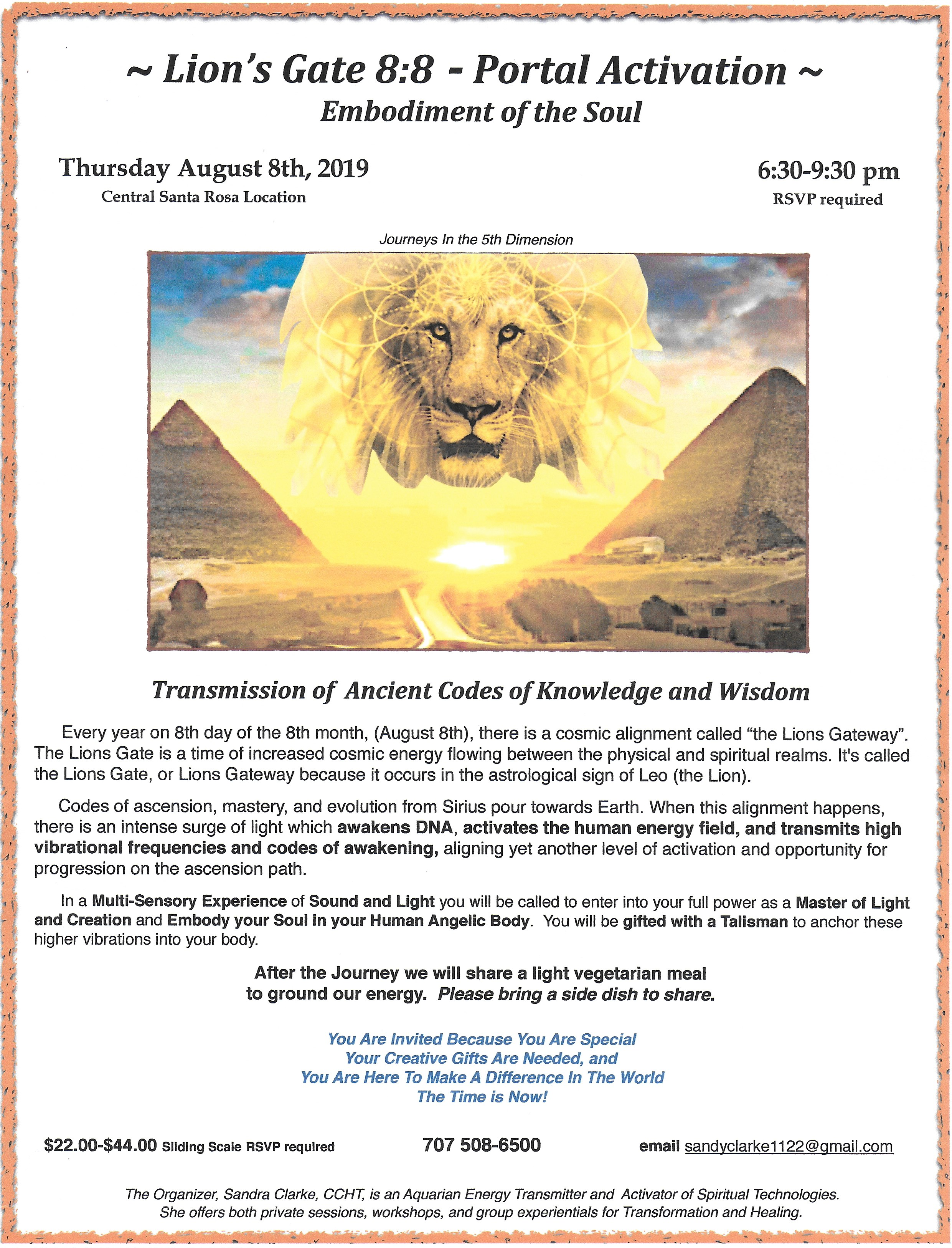 journeys In The 5th Dimension - Lions Gate 8:8 - Activation